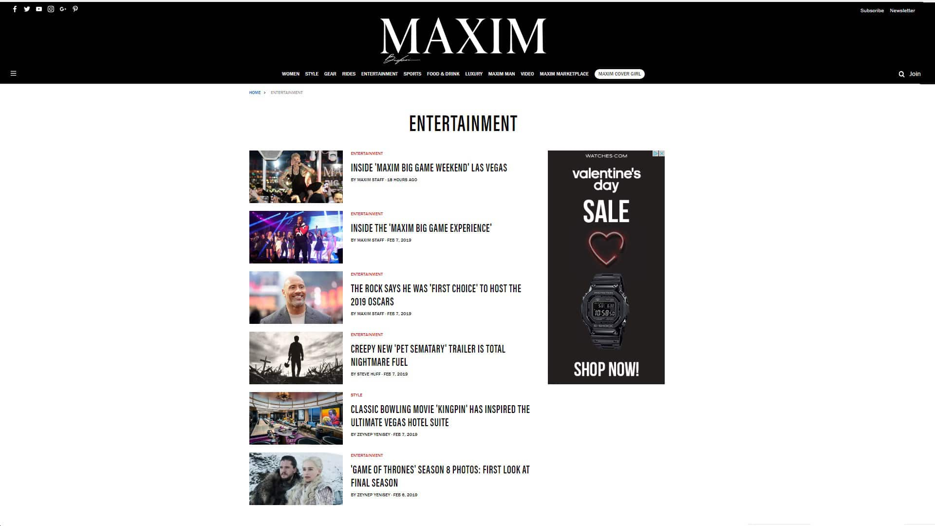 Maxim Entertainment