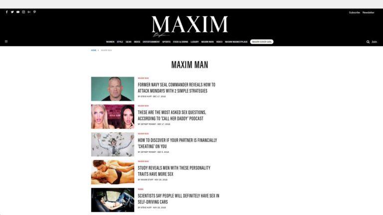 Maxim Man