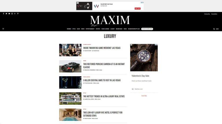 Maxim Luxury