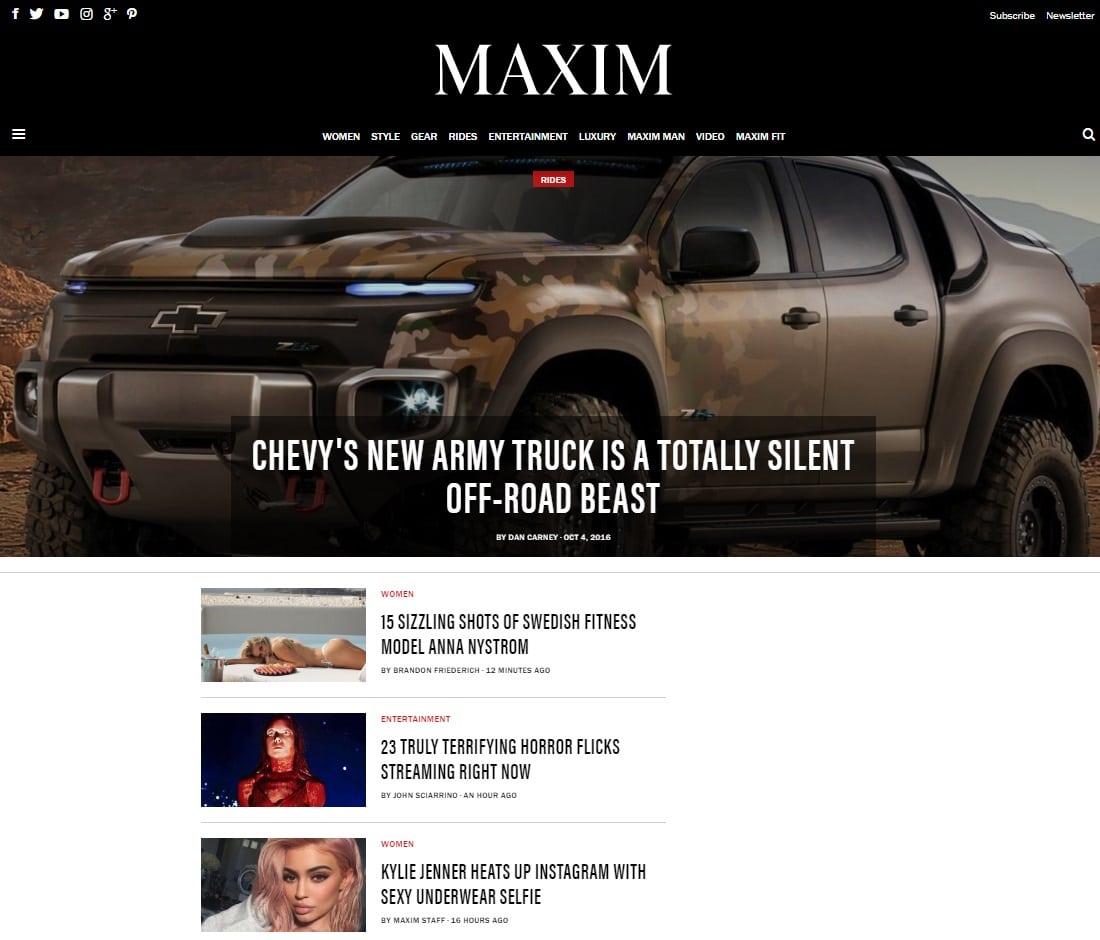 Porn Magazines - Maxim