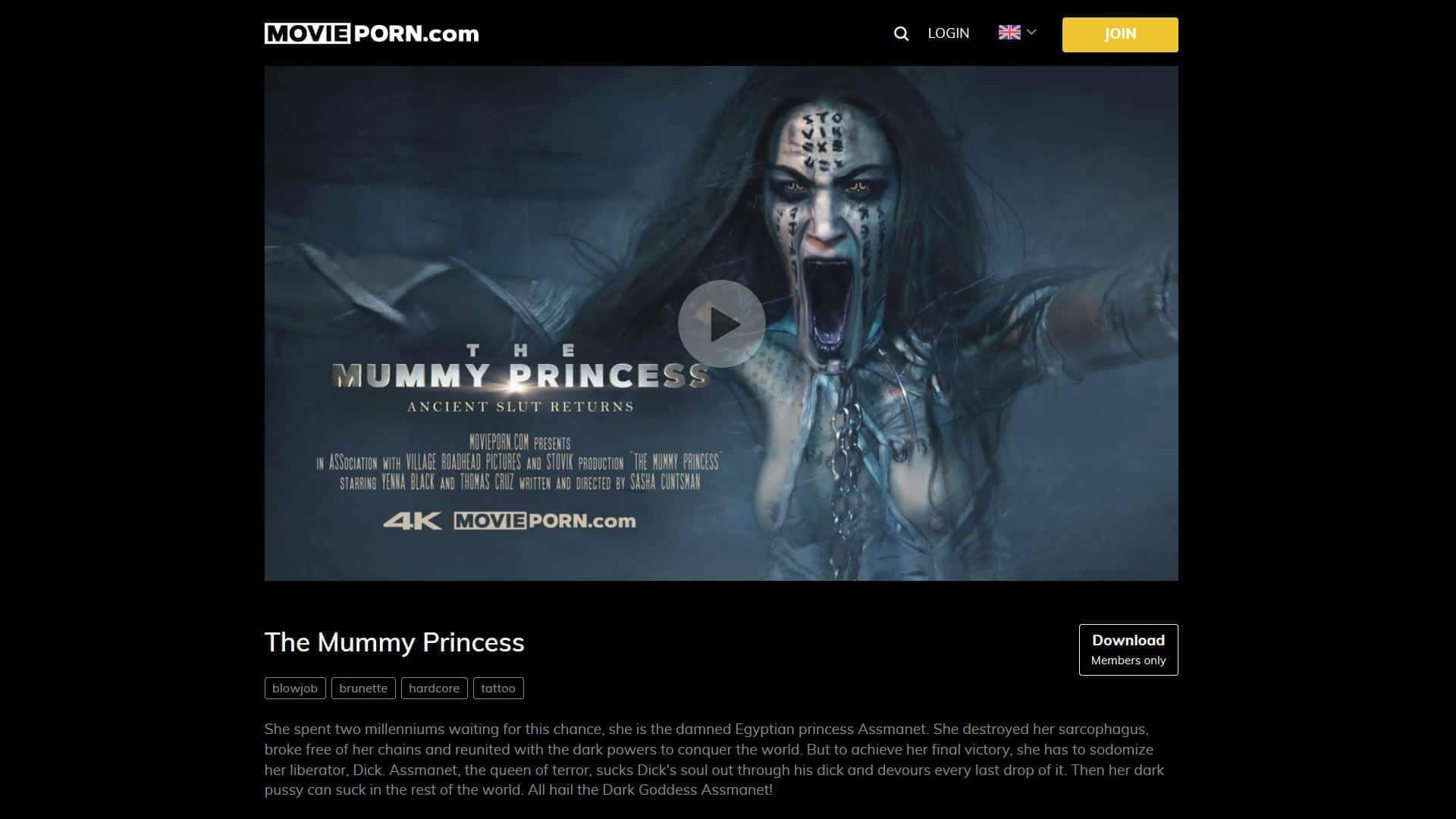 MoviePorn The Mummy Princess