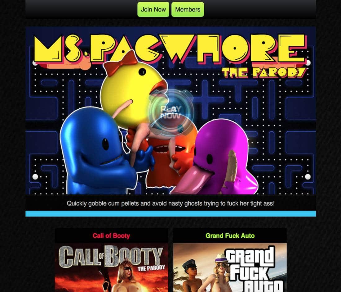 XXX Porn Games - Ms Pac Whore