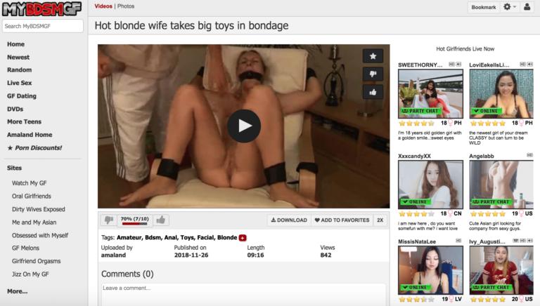 Hot Blonde Wife Takes Big Toys In Bondage