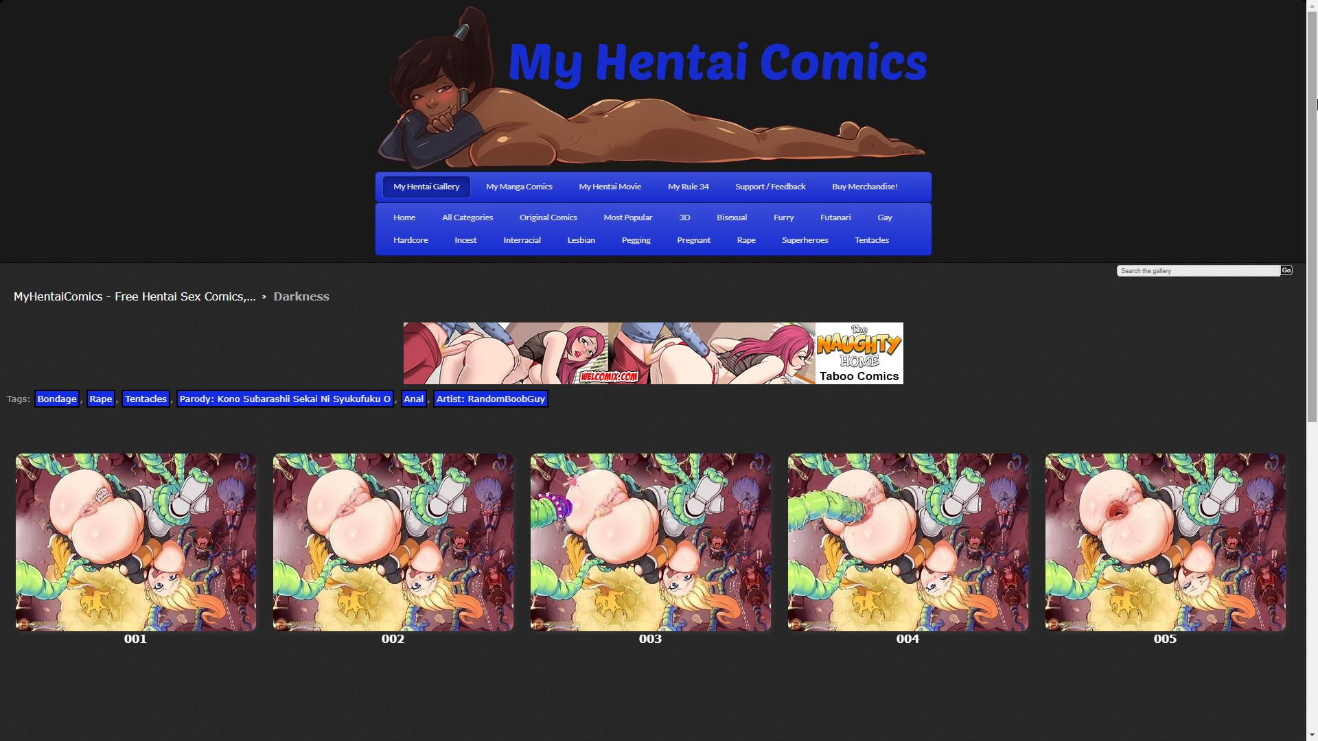 My Hentai Comics Darkness