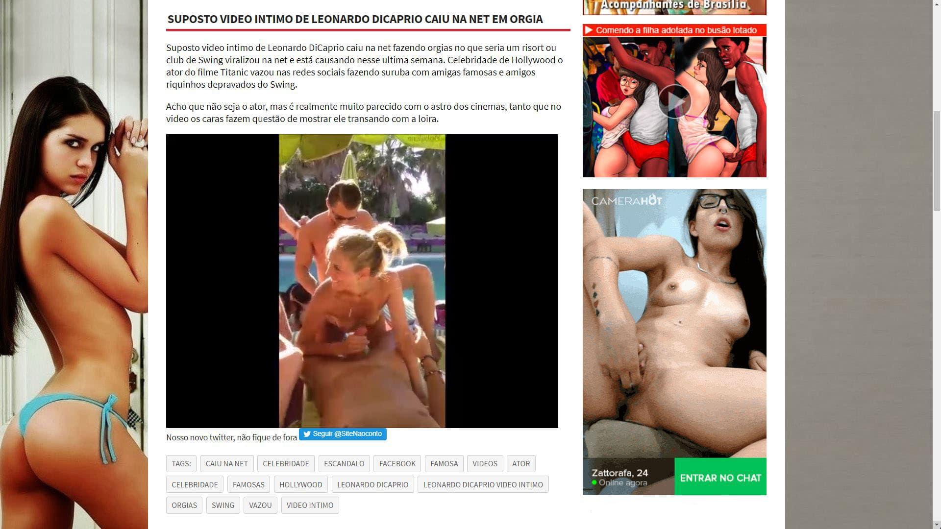 Nao Conto Suposto Video Intimo De Leonardo Dicaprio Caiu Na Net Em Orgia
