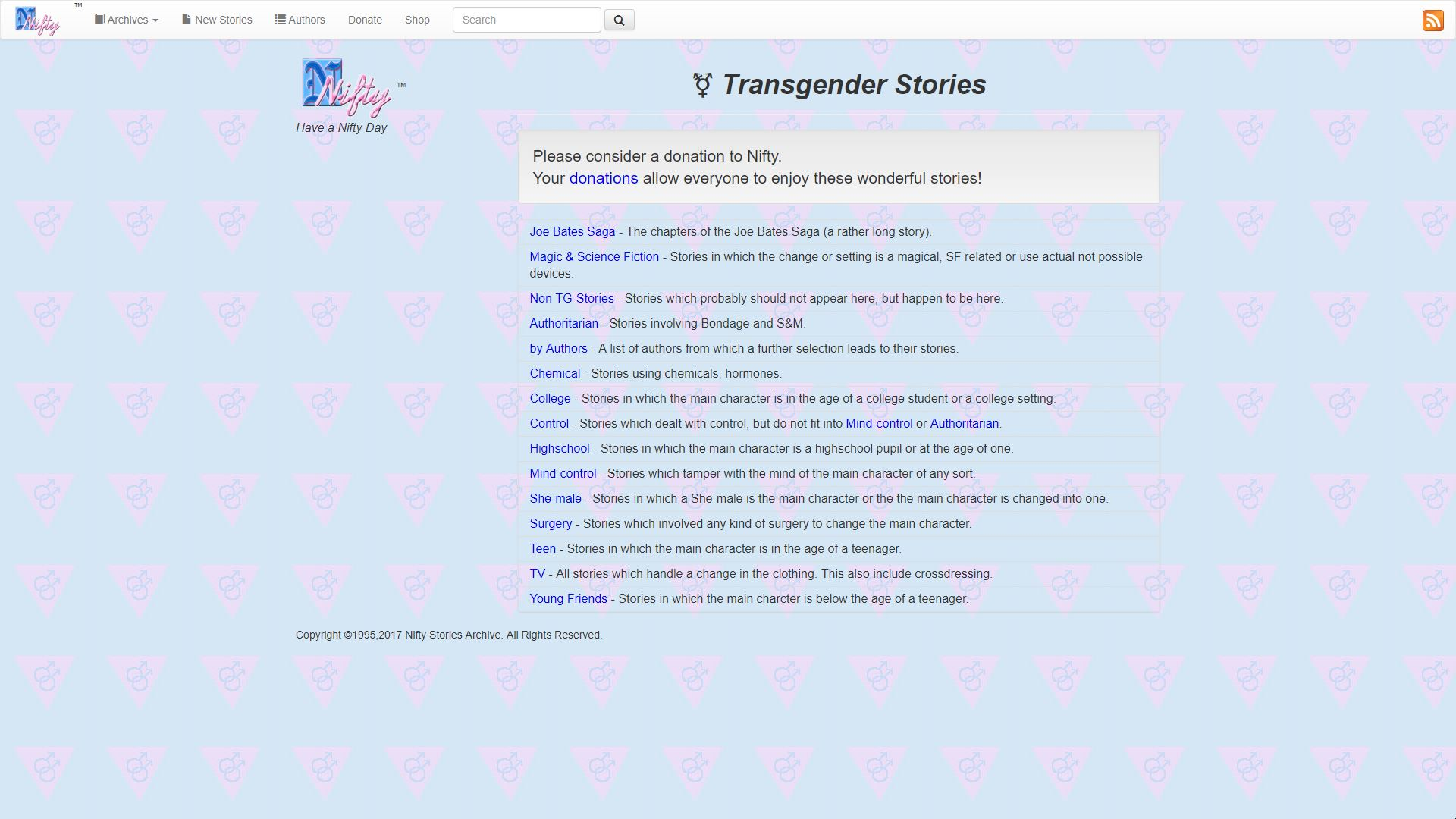 Nifty Transgender Stories