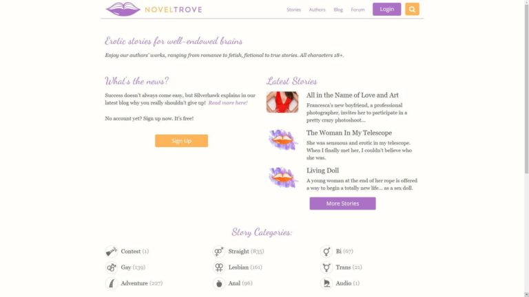 Novel Trove Home Page
