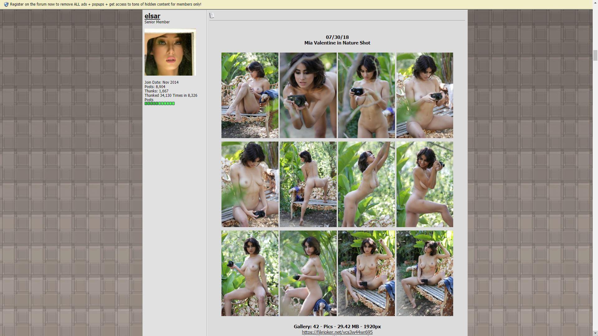 Nude Celeb Forum Mia Valentine In Nature Shot