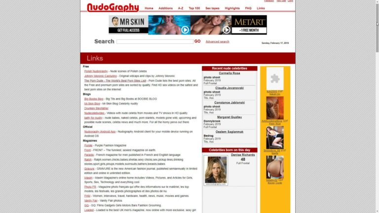 Nudography Links