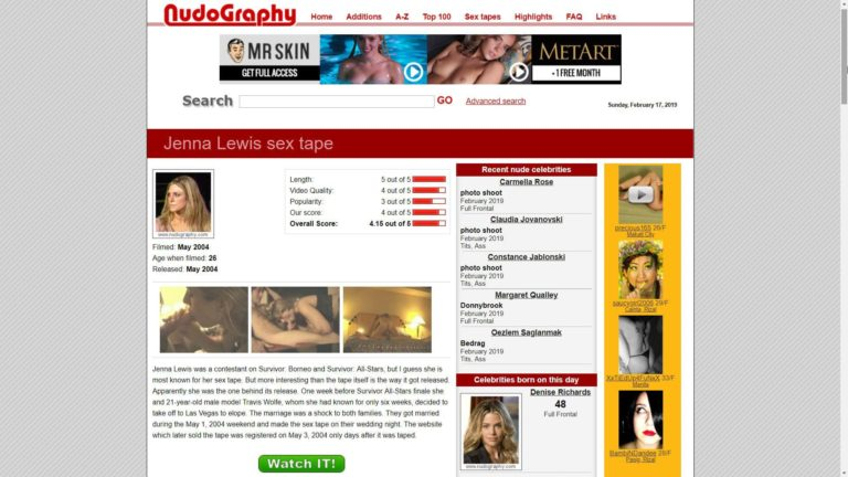Nudography Jenna Lewis Sex Tape