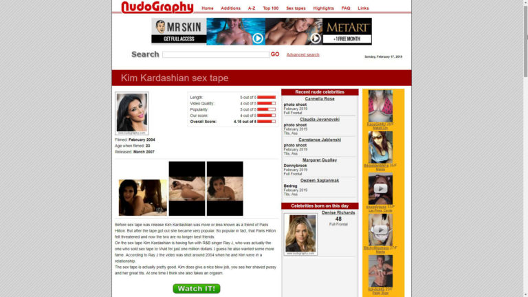 Nudography Kim Kardashian Sex Tape