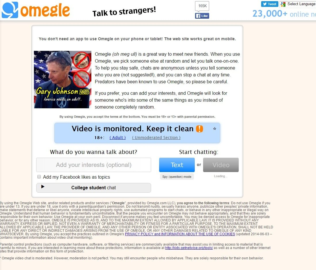 Sites like omegle for sex