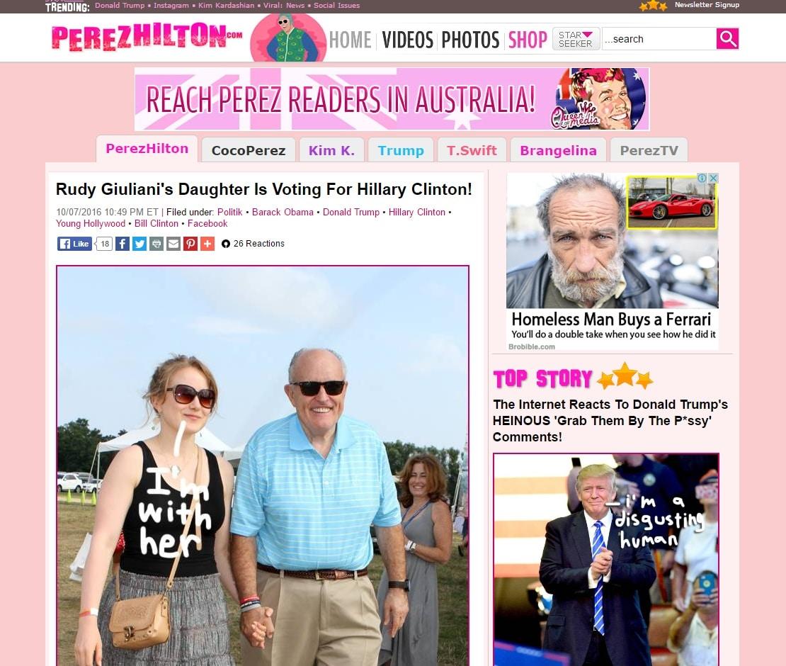 Celebrity Gossip Sites - Perez Hilton