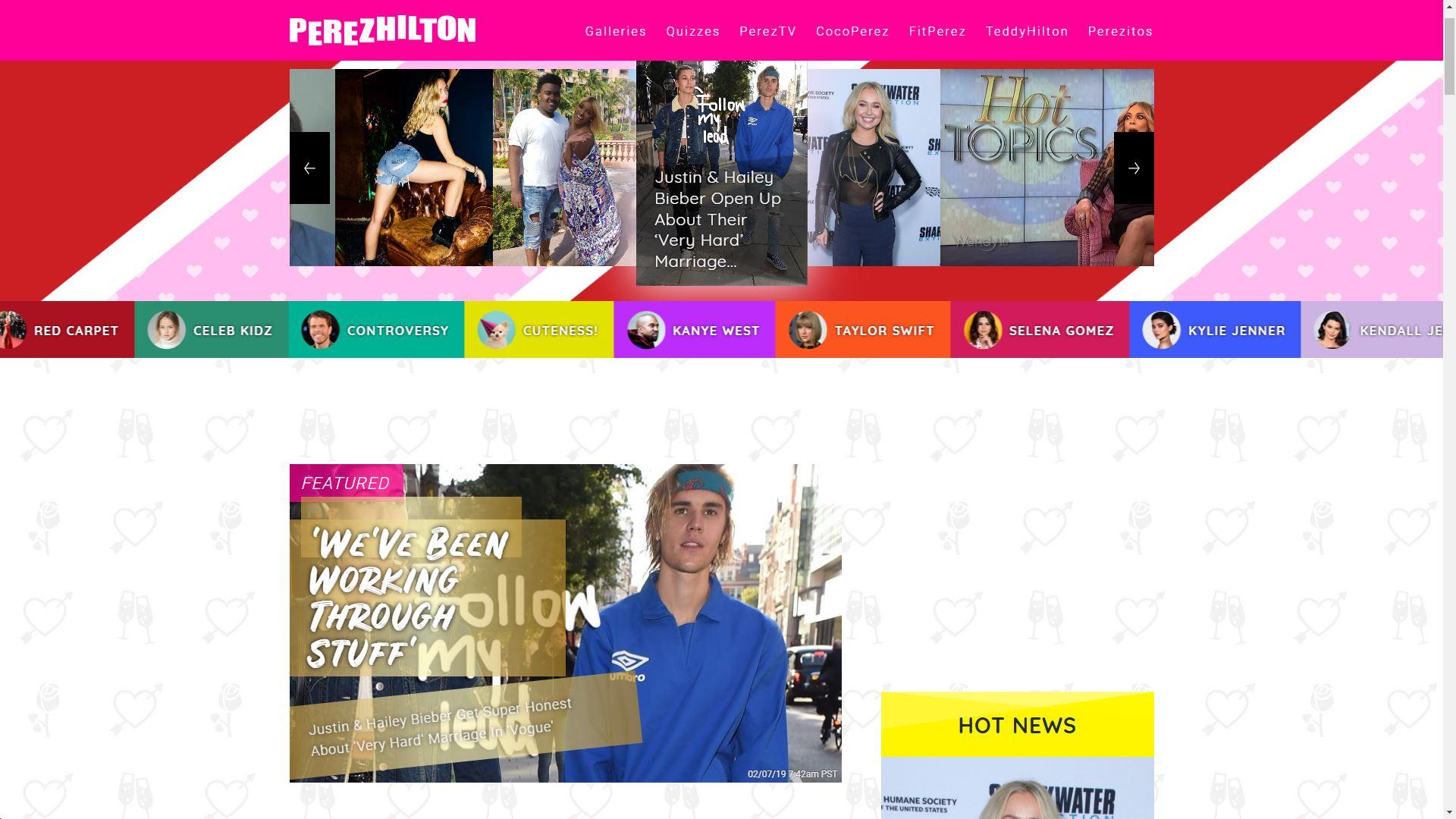 Perez Hilton Main Page
