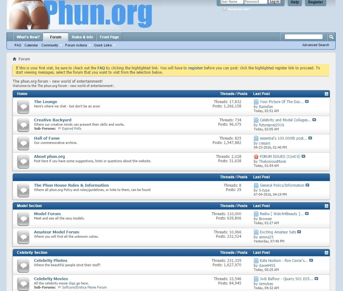 porno site forum