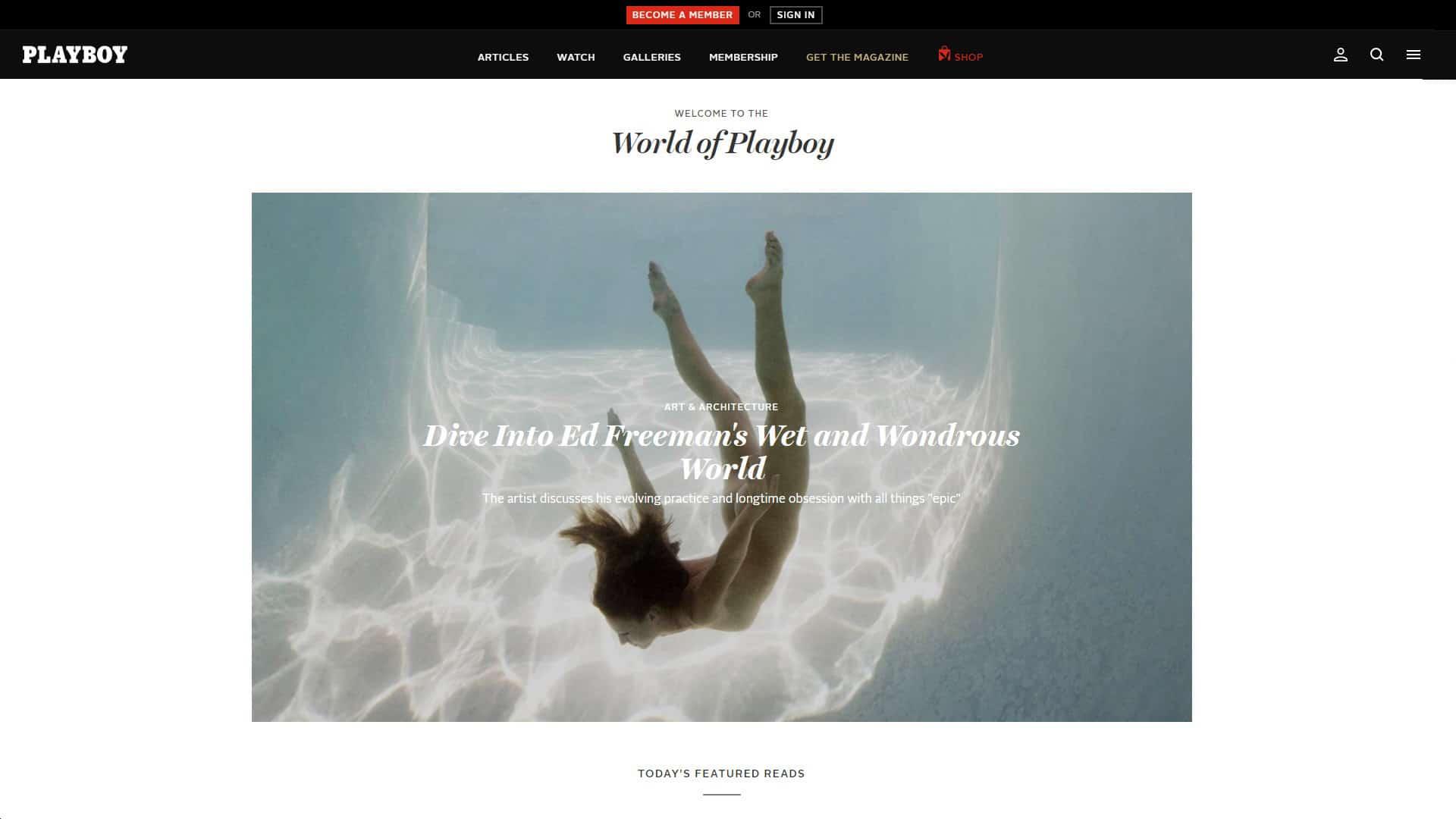Playboy Homepage