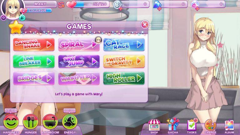 Pocket Waifu Mini Games