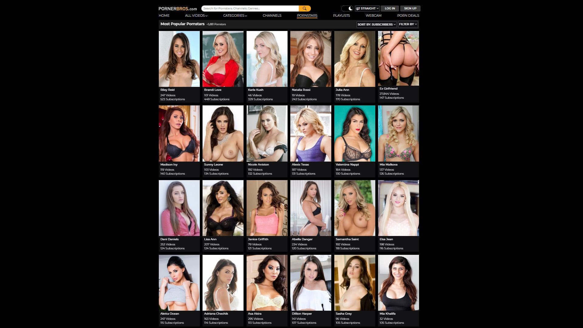 Porner Bros Pornstars
