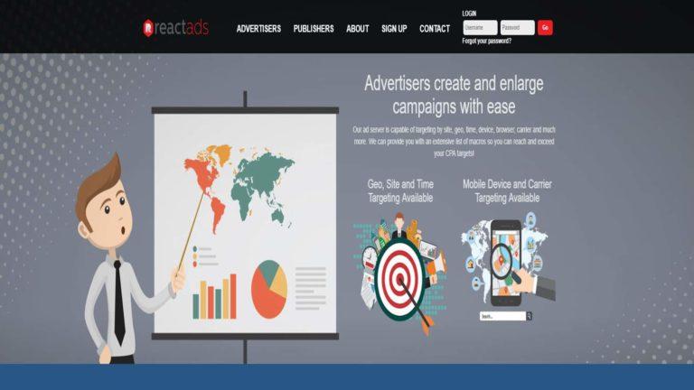 ReactAds Advertisers