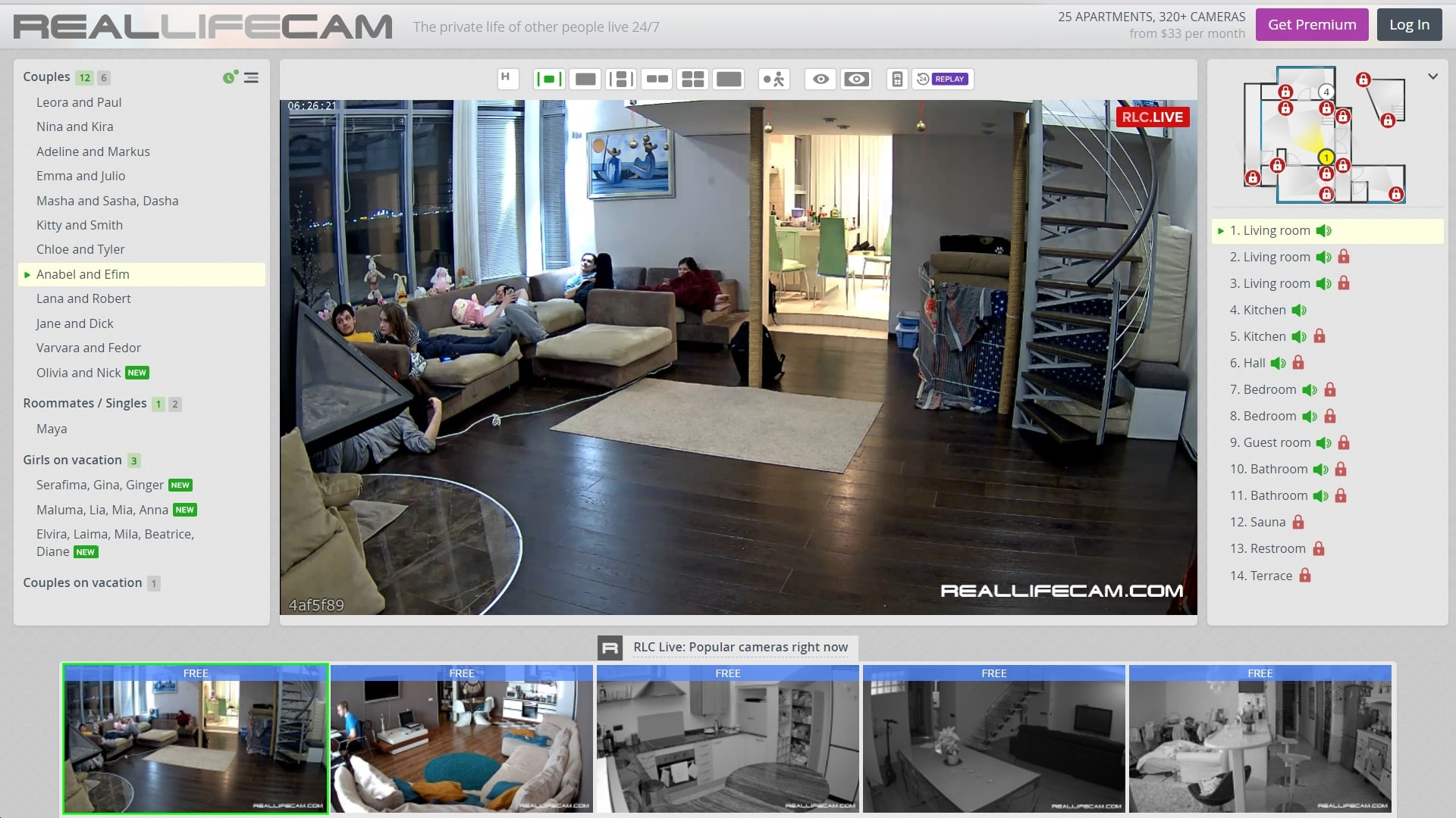 Real Life Cam Homepage