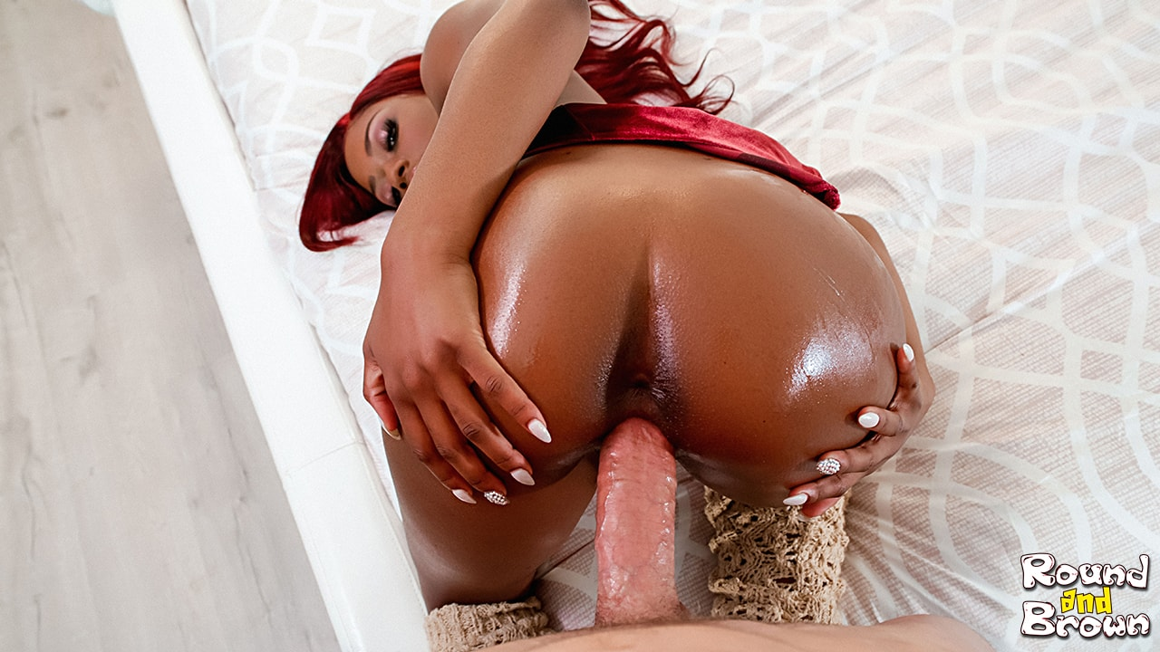 Round And Brown Curvy Cutie Craves Cock