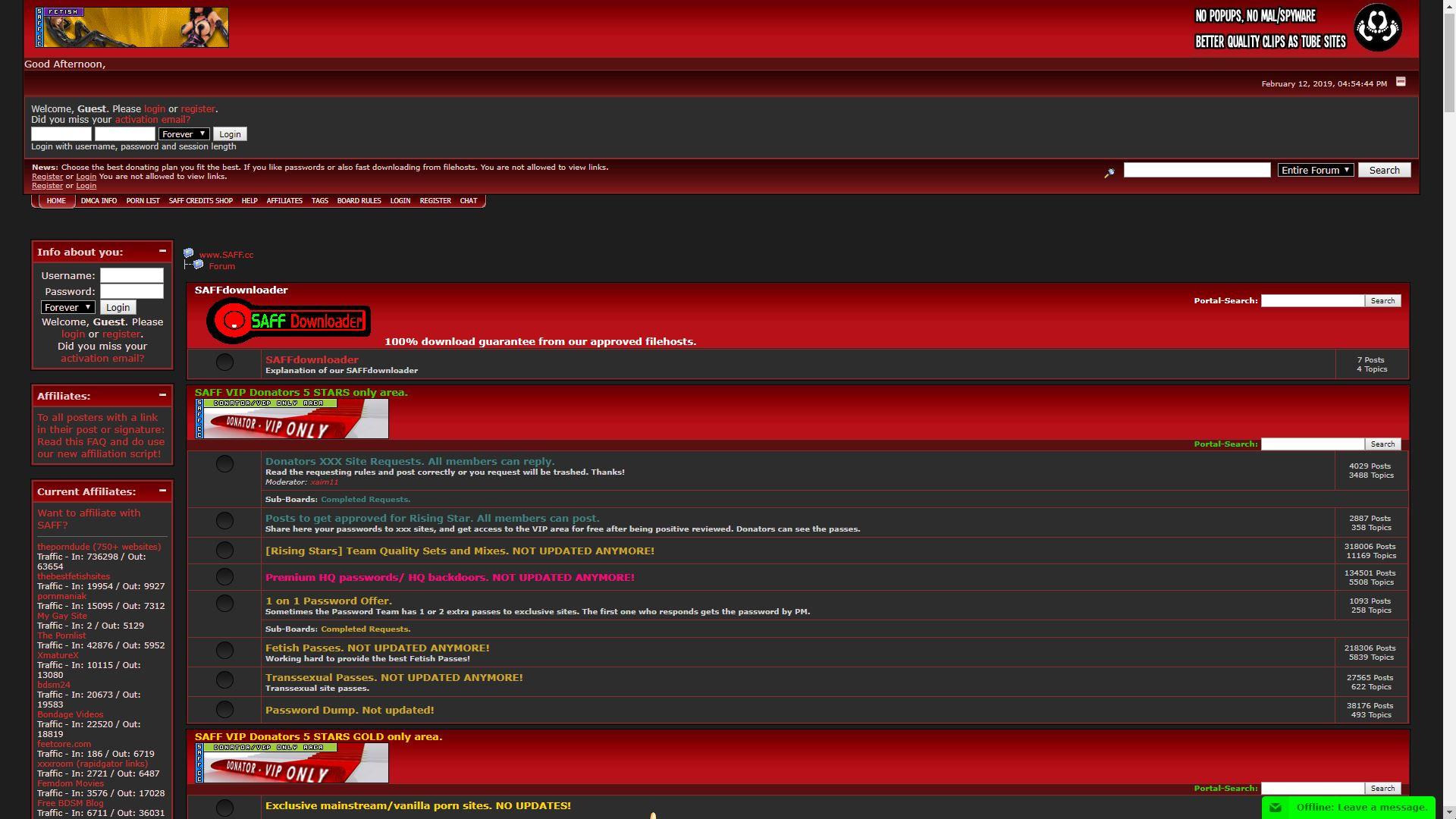 SAFF Home Page