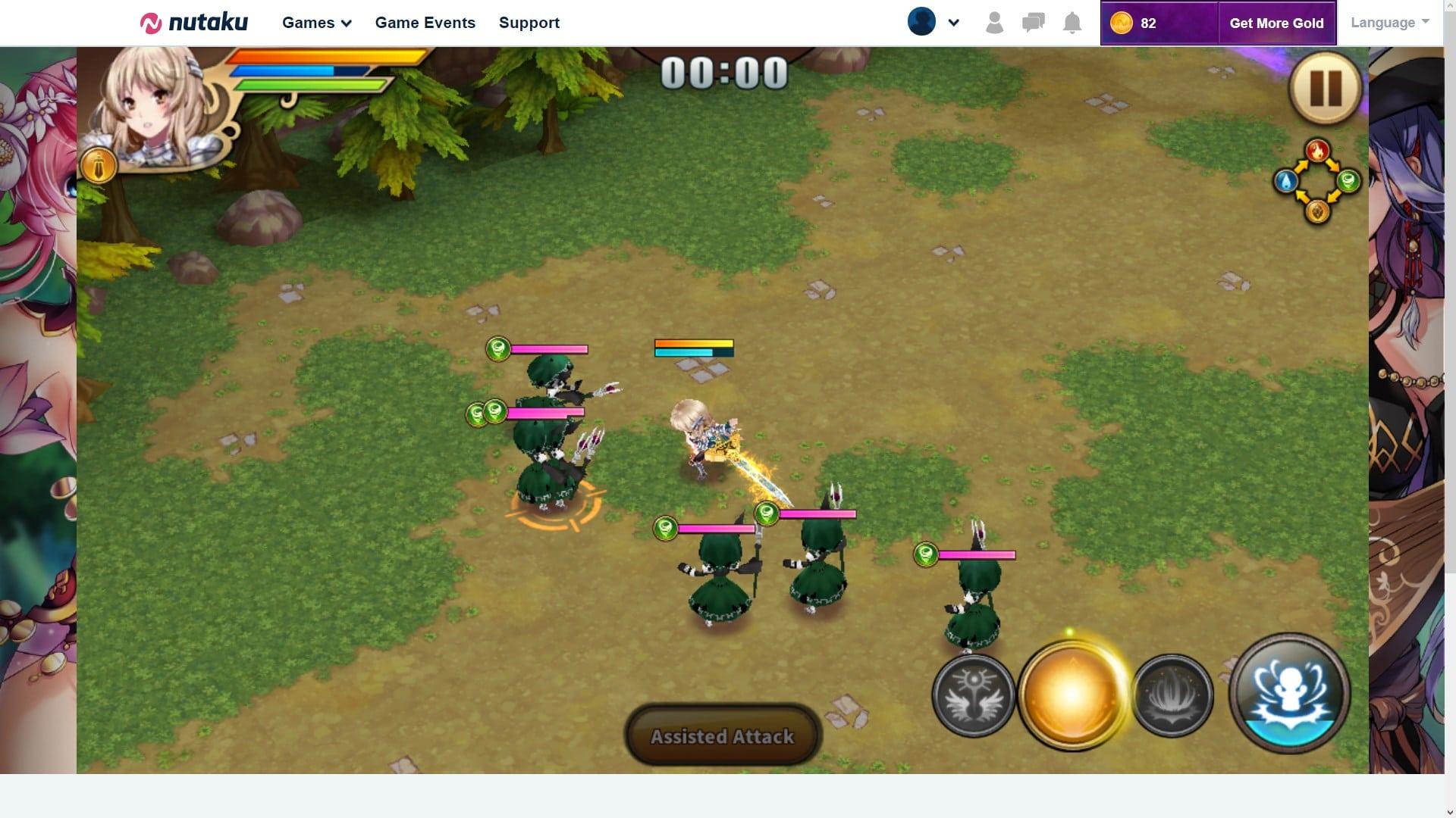 Sacred Sword Princesses Combat System