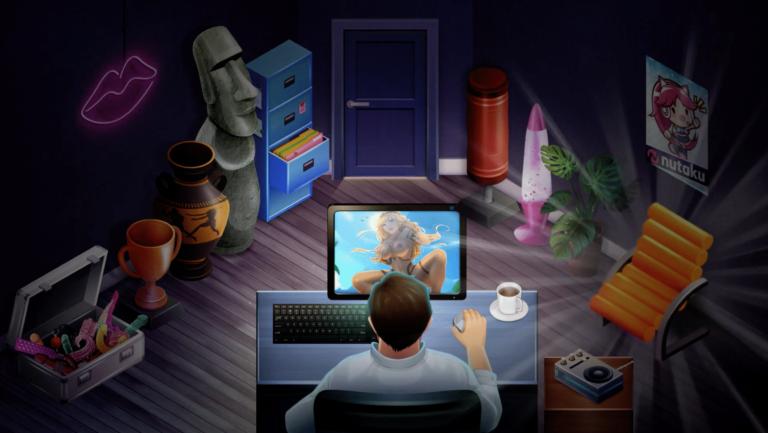 Pocket Waifu Hentai Bedroom Gaming