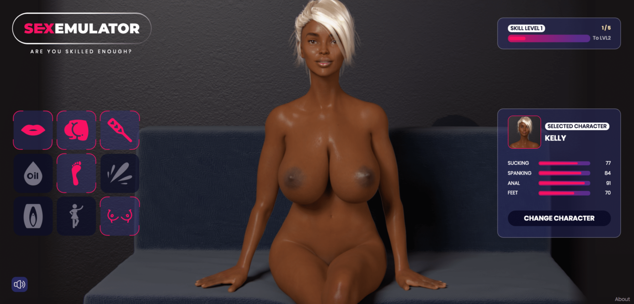 Sex Emulator - Black Girl Bit Tits