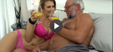 Sexy Swinger Fucks Old Man