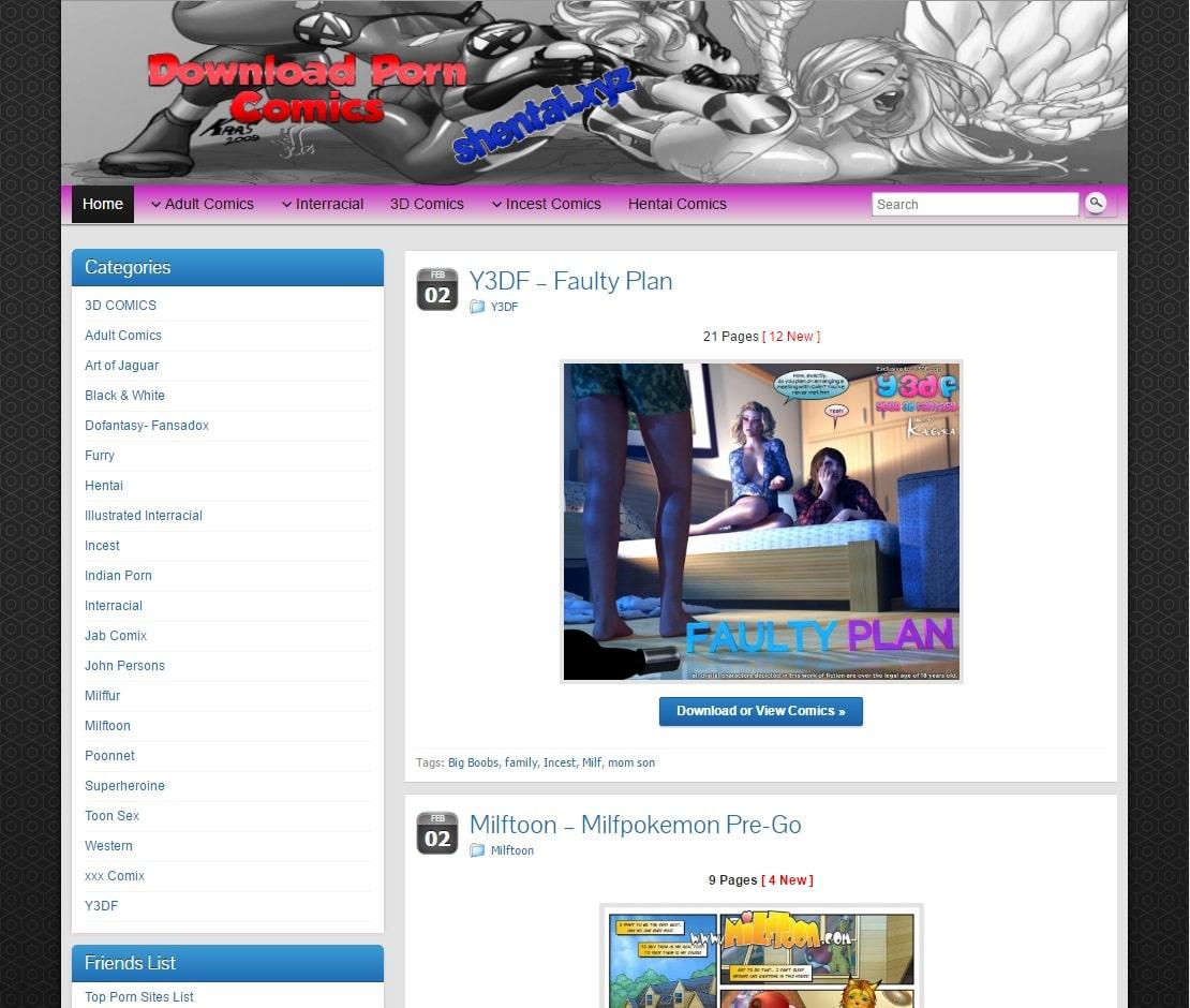 Porn Comics Sites - Shentai XYZ