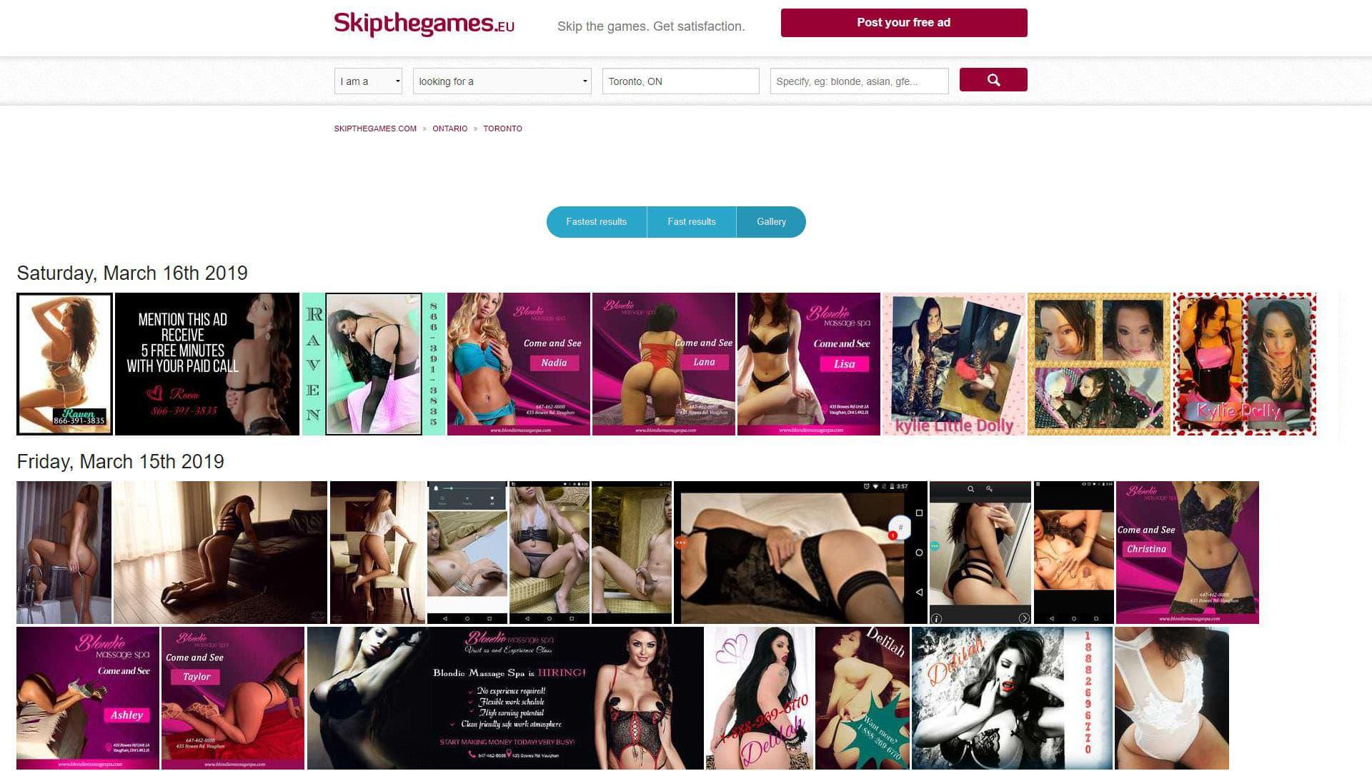 SkipTheGames Toronto