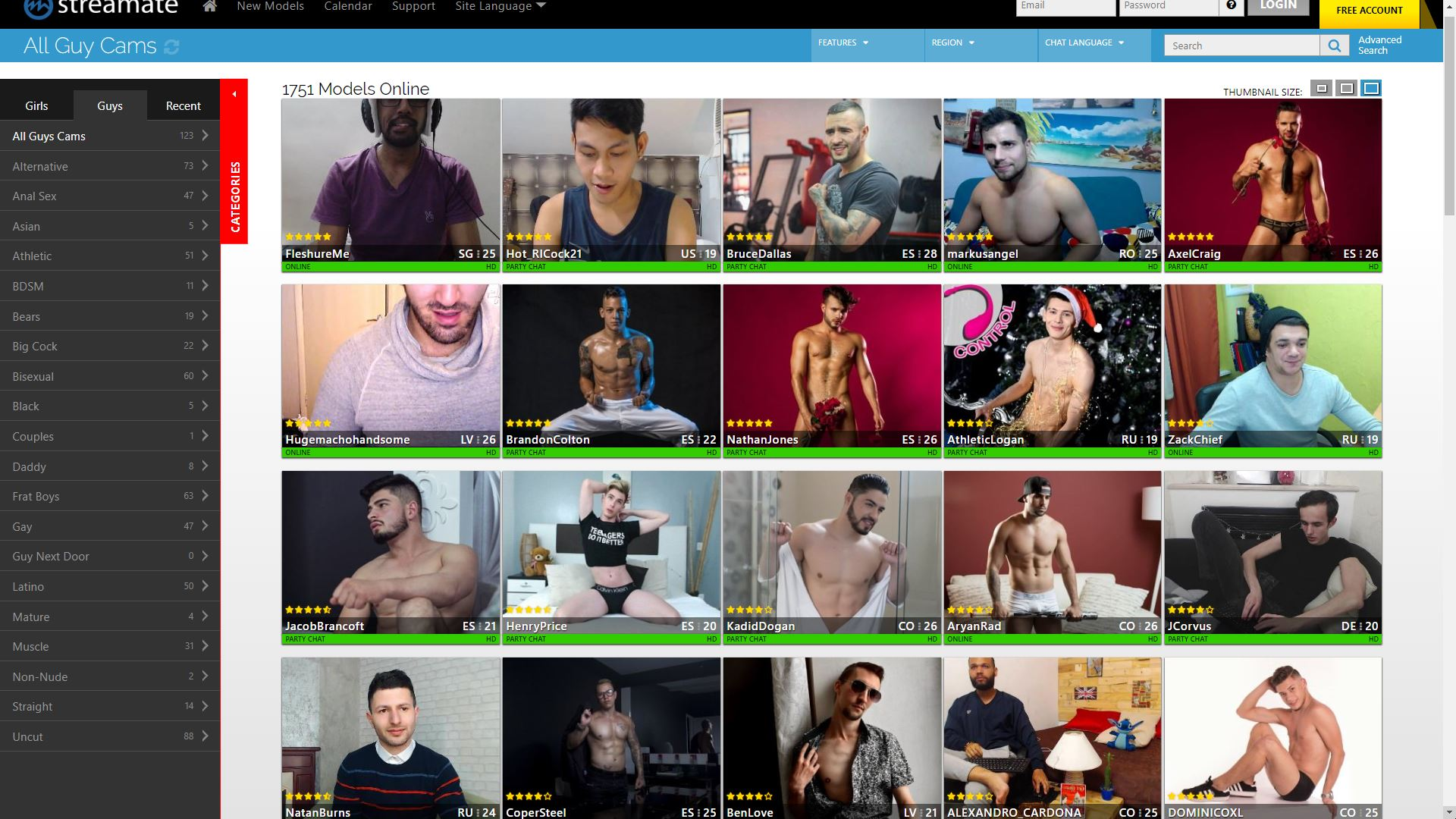 Streamate All Guys Cam