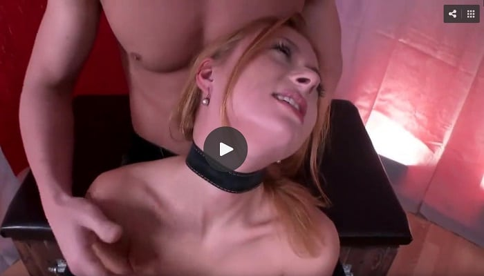 Submissive Mila Noir is tied and double penetrated