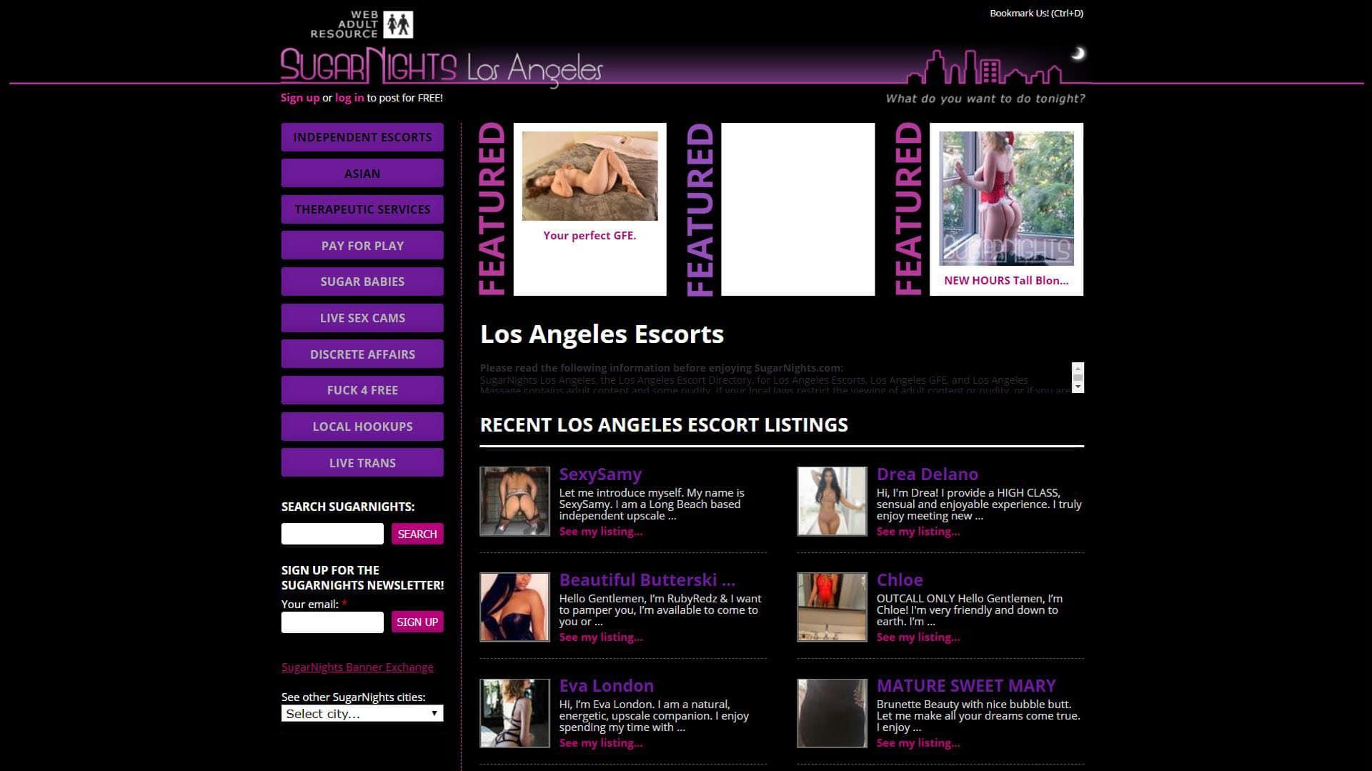 SugarNights Los Angeles Escorts