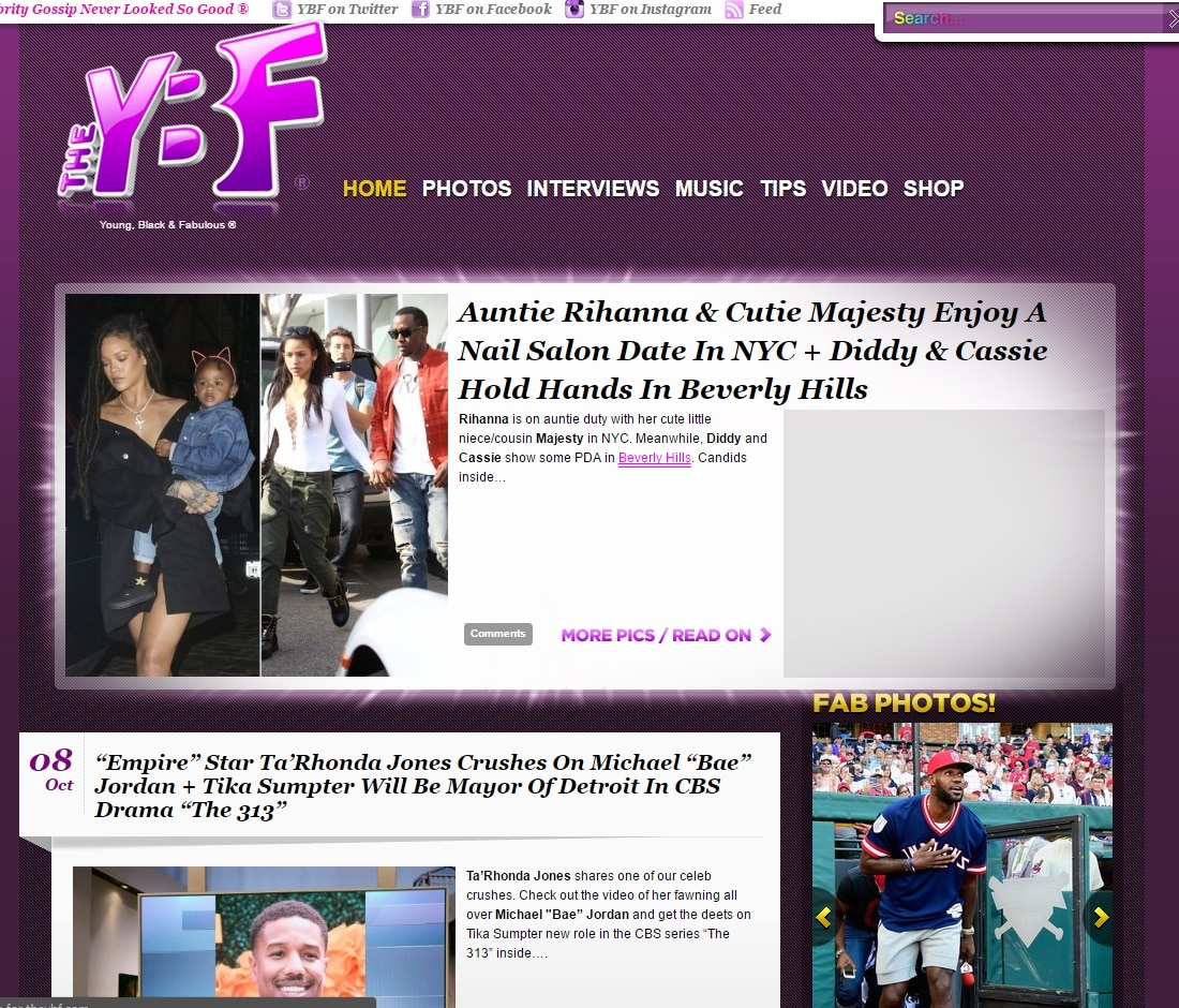 Celebrity Gossip Sites - The YBF