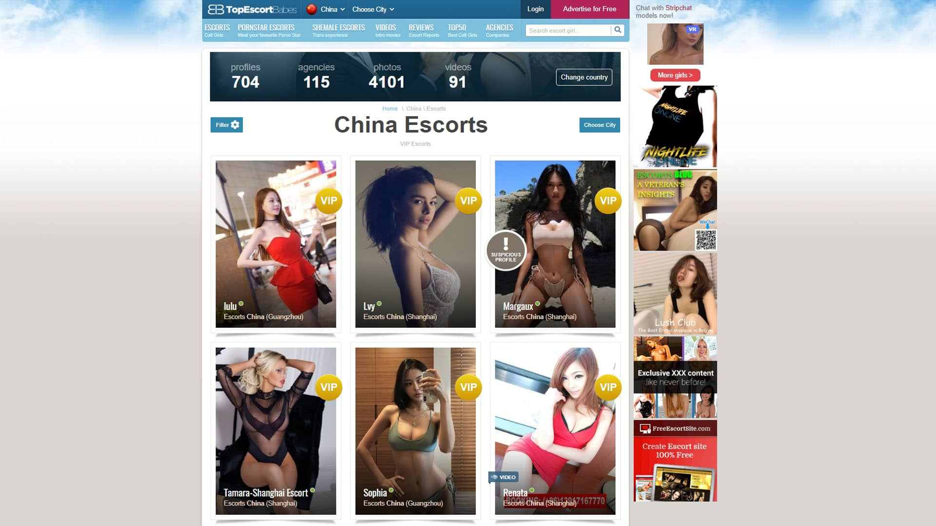 TopEscortBabes China Escorts