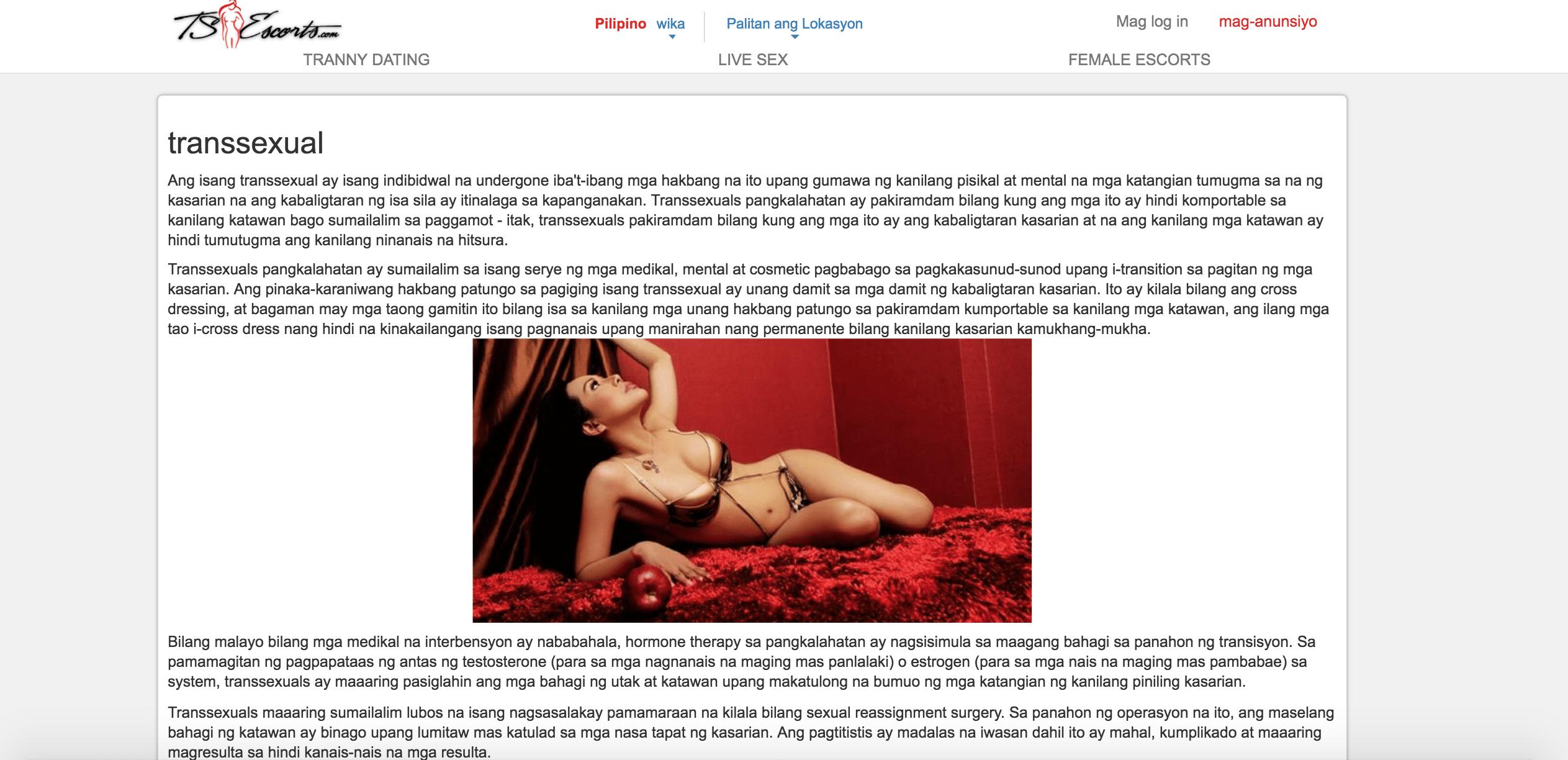 Tsescorts - Transsexual Page