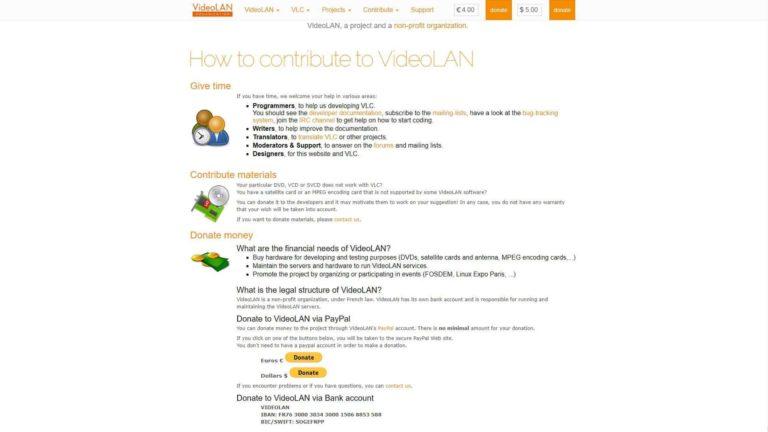 VLC Media Player Contribute