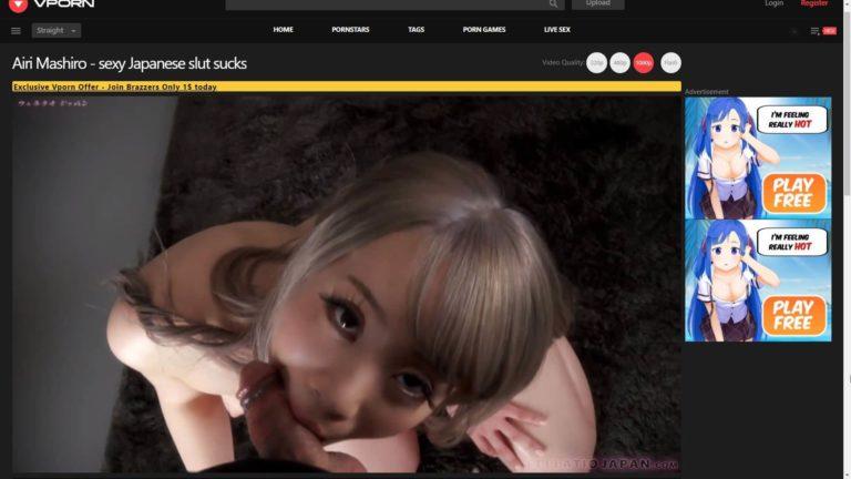 VPorn.com Asian Airi Mashiro Sexy Japanese Slut Sucks