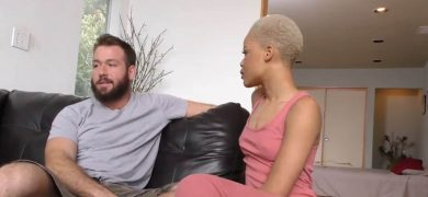 Ebony Fucks Big Cock