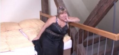 Horny Old Lady Fucked By Young Dick