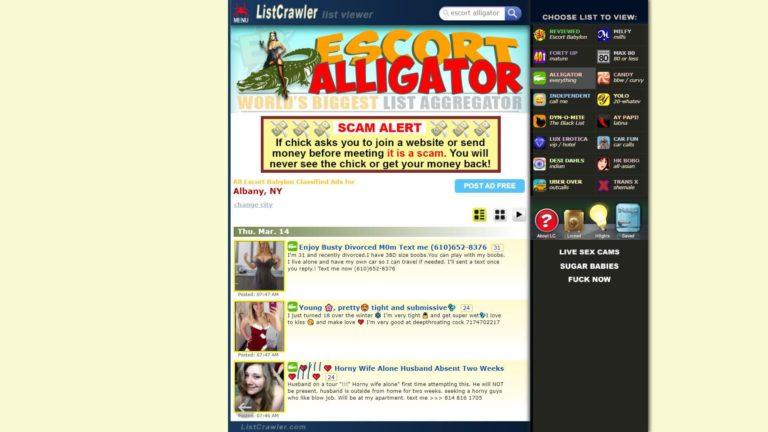 Listcrawler Escort Alligator