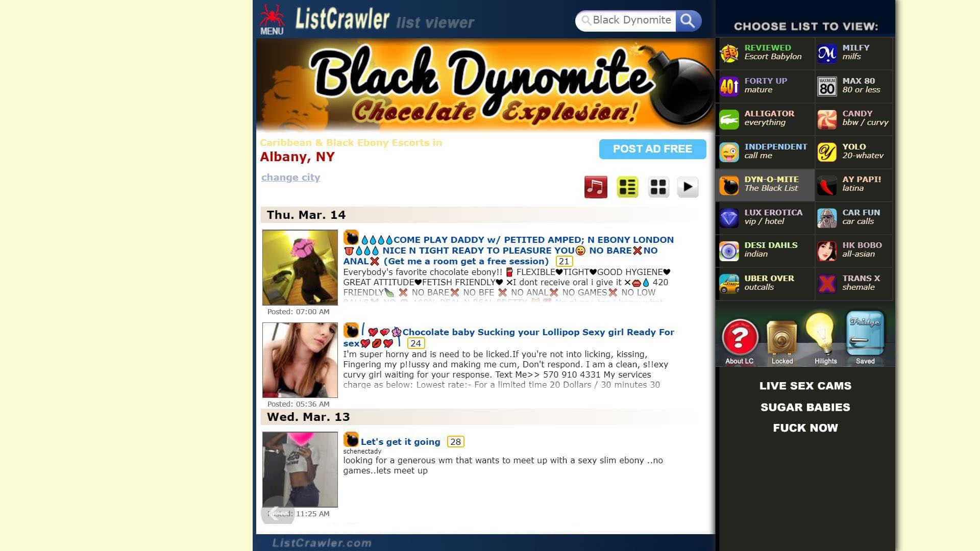 Listcrawler Black Dynomite