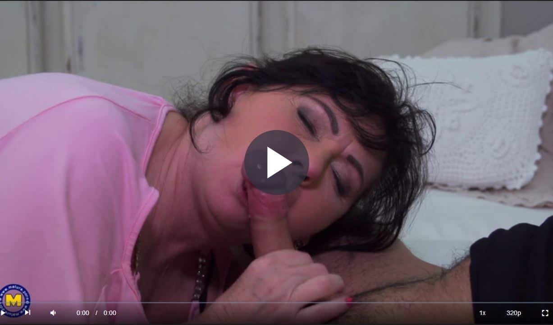 Old Woman Sucks Cock