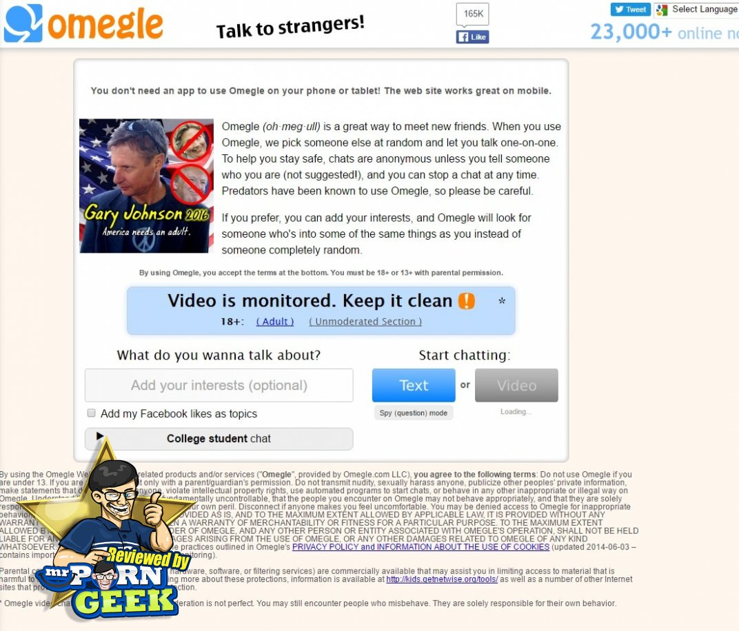 Chat sex omegle com opinion, lie
